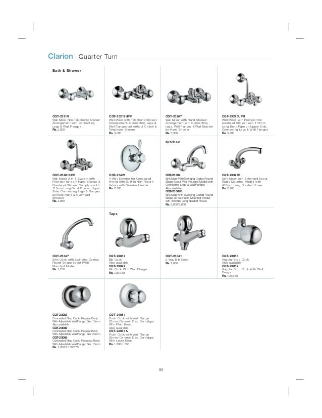JAQUAR BATH FITTINGS PRICE LIST 2014 PDF