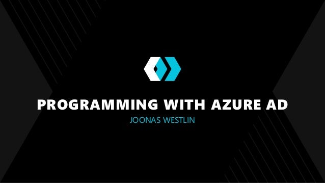 Programming with Azure Active Directory