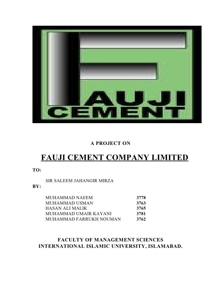 pest analysis of fauji cement limited We have a well-equipped laboratory that performs sophisticated laboratory analysis at various fauji cement company limited of ffbl power company limited.