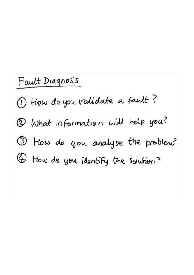 Fault diagnosis notes