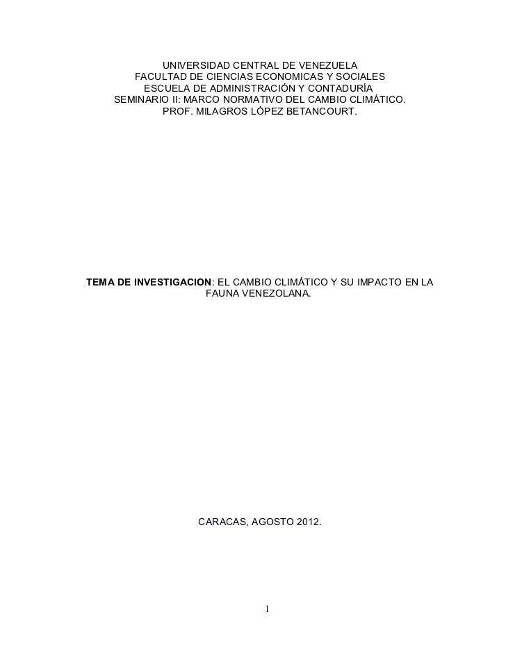 UNIVERSIDAD CENTRAL DE VENEZUELA       FACULTAD DE CIENCIAS ECONOMICAS Y SOCIALES         ESCUELA DE ADMINISTRACIÓN Y CONT...