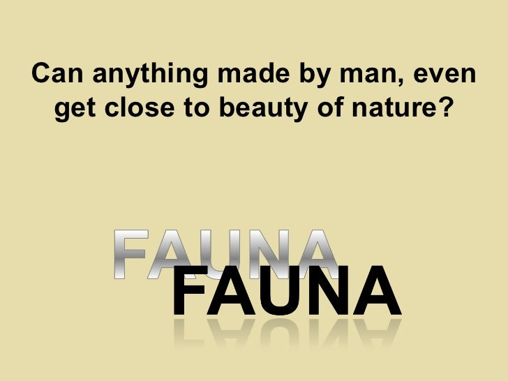 Can anything made by man, even get close to beauty of nature?