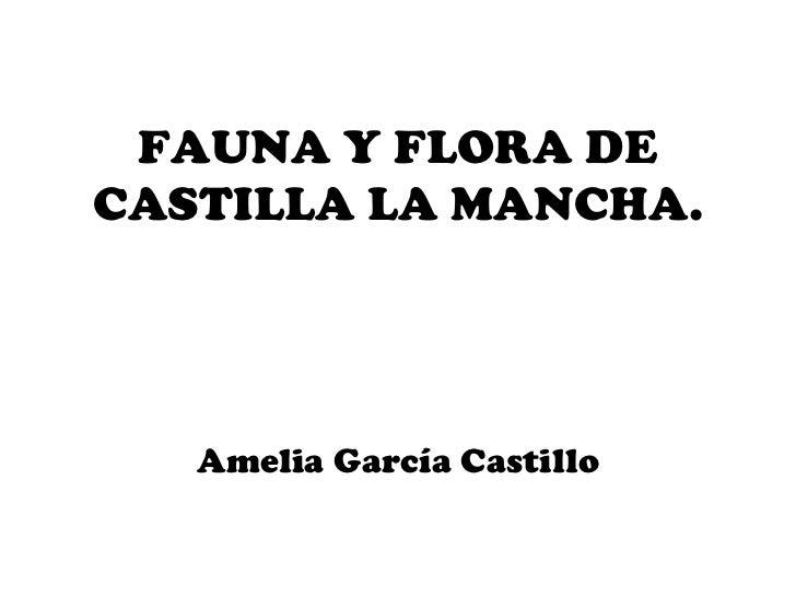 FAUNA Y FLORA DE CASTILLA LA MANCHA. Amelia García Castillo