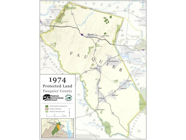 """Protected Land  Fauquier County  %-. ..~+-"""""""""""". :;~'-@  - conwnamu Enlmomx - H! iI