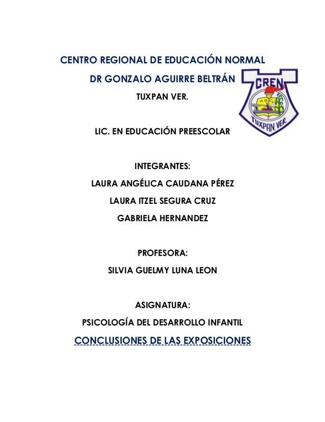 CENTRO REGIONAL DE EDUCACIÓN NORMAL DR GONZALO AGUIRRE BELTRÁN TUXPAN VER. LIC. EN EDUCACIÓN PREESCOLAR INTEGRANTES: LAURA...