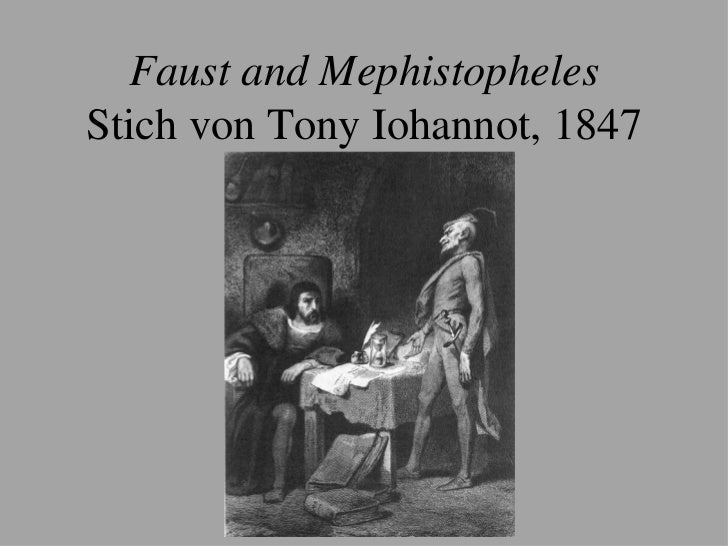 relationship between faust and mephistopheles