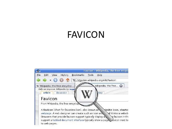 FAVICON<br />