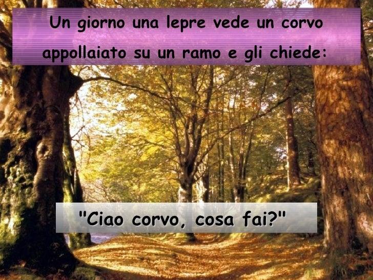 Favola Della Lepre E Del Corvo Slide 2