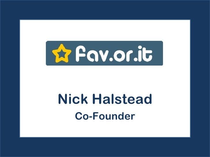 Nick Halstead Co-Founder
