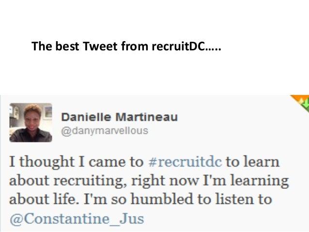 The best Tweet from recruitDC…..