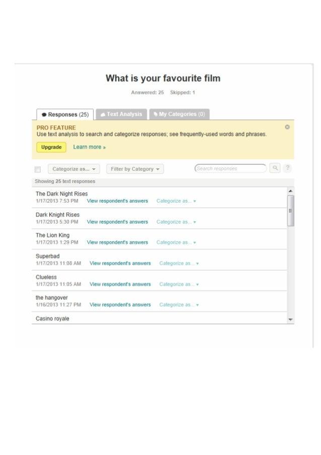 Favourite film   survey