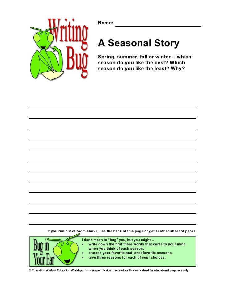 Name:                                                       A Seasonal Story                                              ...