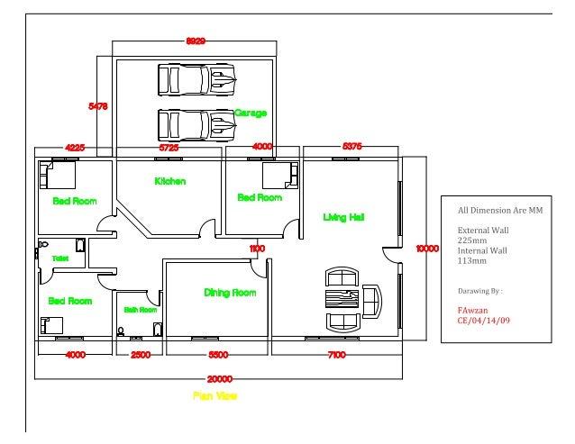 8929  54 8 7 J   Garage 4225 5725 4000 5375 Kitchen à Bed Room Bed Room Living Hall %D H H, 1100 C: Toilet `{   Dining Roo...