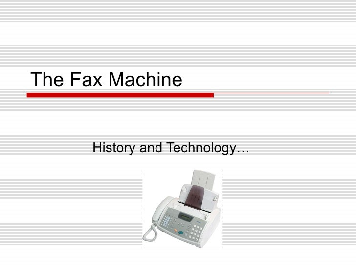 The Fax Machine History and Technology…