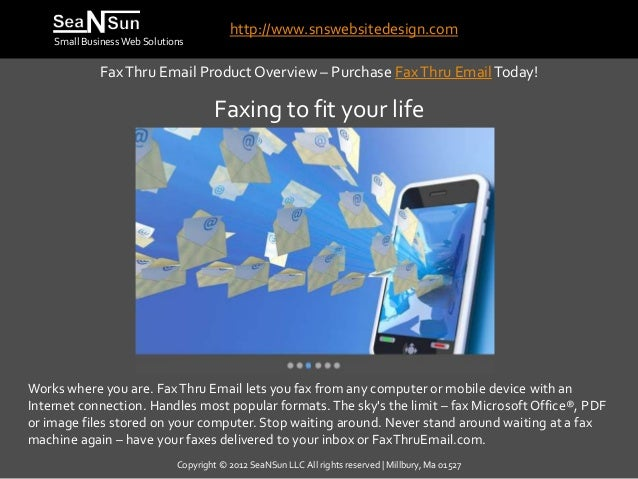 Send and Receive Faxes Anywhere