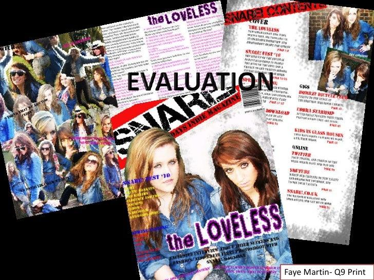EVALUATION<br />Faye Martin- Q9 Print<br />