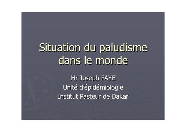PLANIntroductionI/ Evolution de la répartition du paludisme dans le mondeII/ Paludisme en Europe et en Amérique du nordIII...