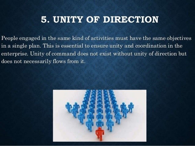 unity of direction principle of management