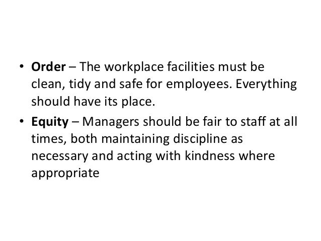 what kind of workplace would henri fayol create