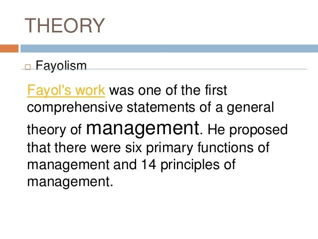 Five Functions of Management by Fayol