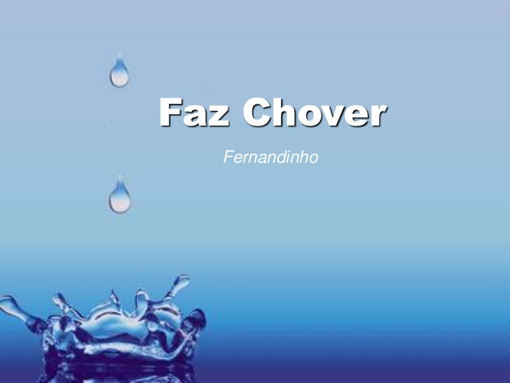 Faz Chover  Fernandinho