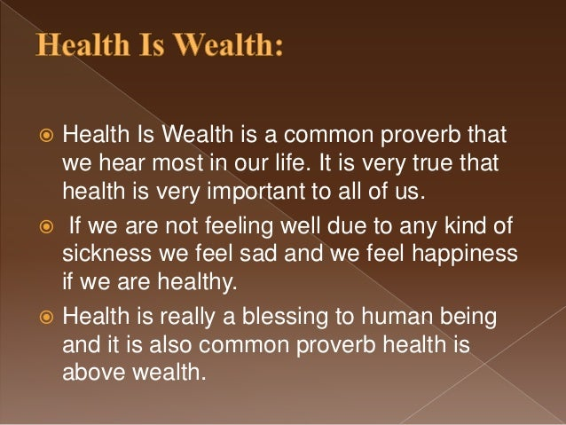 health is very important in our life essay