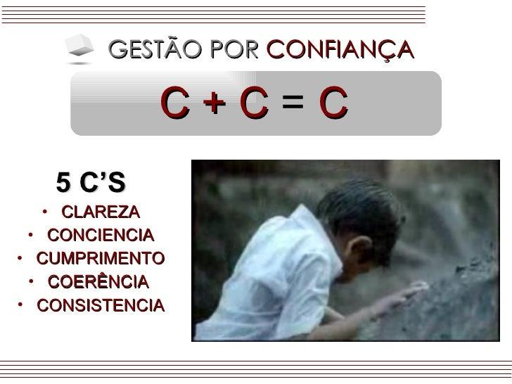 C + C   =  C <ul><li>5 C'S </li></ul><ul><li>CLAREZA </li></ul><ul><li>CONCIENCIA </li></ul><ul><li>CUMPRIMENTO </li></ul>...