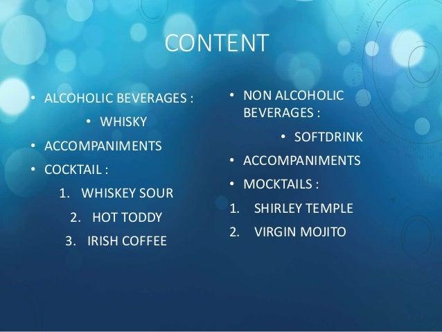 F& B (Alcoholic and Non Alcoholic Beverage) Slide 3