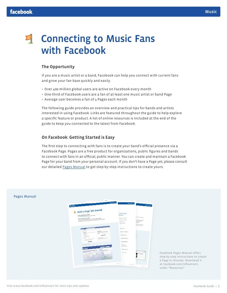 Music                              Connecting to Music Fans                          with Facebook                        ...