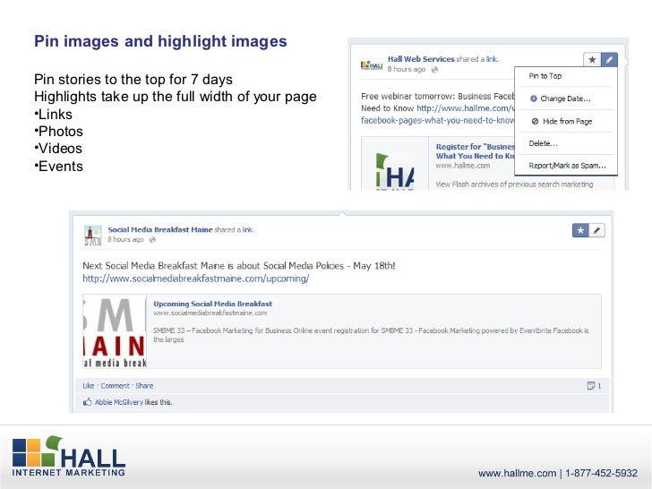 Pin images and highlight imagesPin stories to the top for 7 daysHighlights take up the full width of your page•Links•Photo...