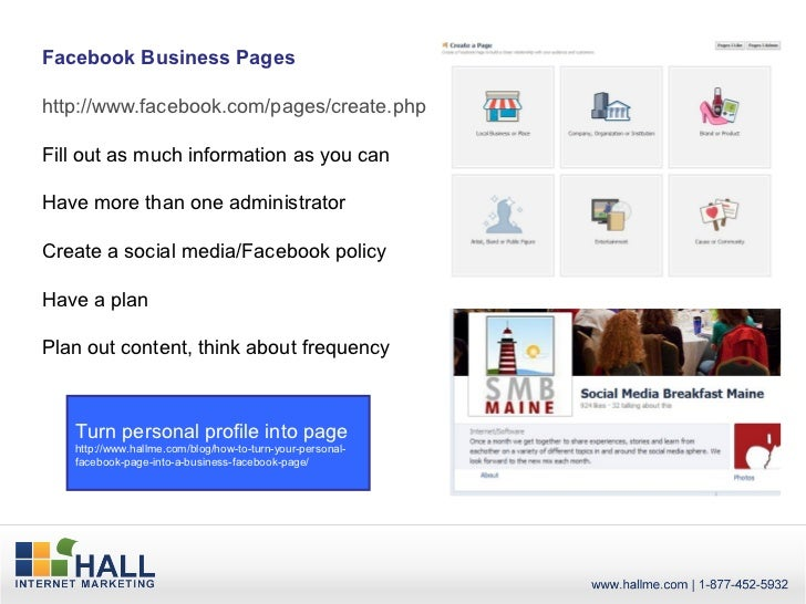 Facebook Business Pageshttp://www.facebook.com/pages/create.phpFill out as much information as you canHave more than one a...