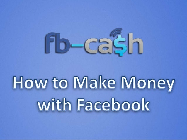 • Selling your own Products & Services with your Facebook Page enables you to earn 100% of any sales you make. • If you go...