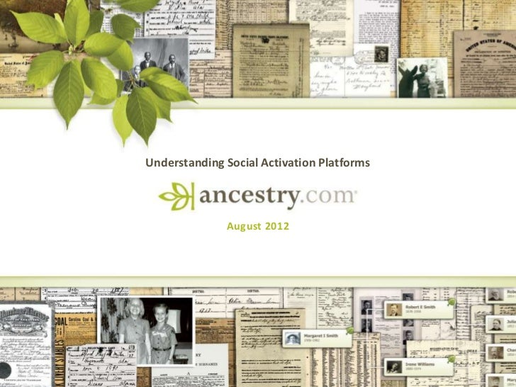 Understanding Social Activation Platforms              August 2012