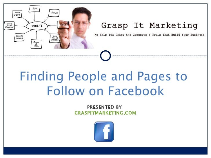 [INSERT LOGO]Finding People and Pages to    Follow on Facebook            PRESENTED BY        GRASPITMARKETING.COM