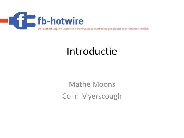 Introductie Mathé Moons Colin Myerscough