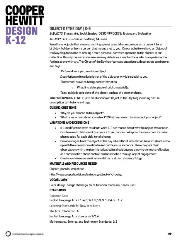Making Design Teacher Resource Packet