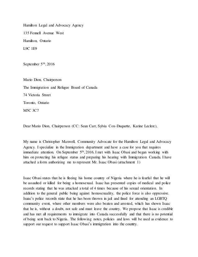 advocacy letter template - advocacy letter