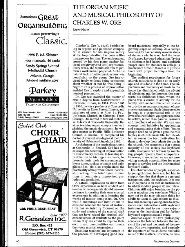 Charles Ore article