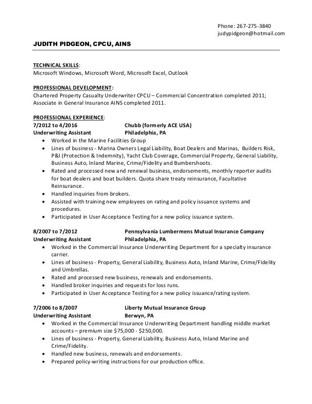underwriting assistant philadelphia