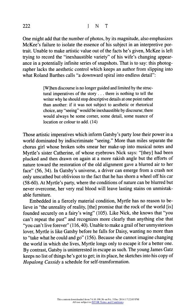 the great gatsby conversation The great gatsby script taken from a transcript of the screenplay and/or the f scott fitzgerald movie starring robert redford and mia farrow.