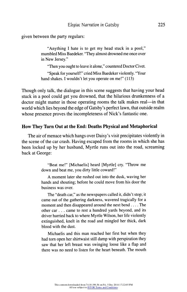 the great gatsby conversation A summary of chapter 4 in f scott fitzgerald's the great gatsby  who finally tells him the details of her mysterious conversation with gatsby at the party.