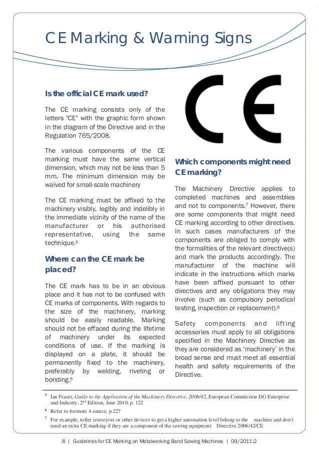 CECIMO Guidelines CE Marking Band Sawing Machines ENG