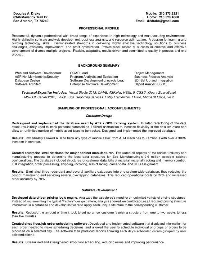douglas drake resume