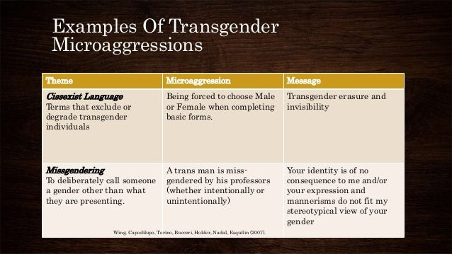 Recognizing And Challenging Microaggressions