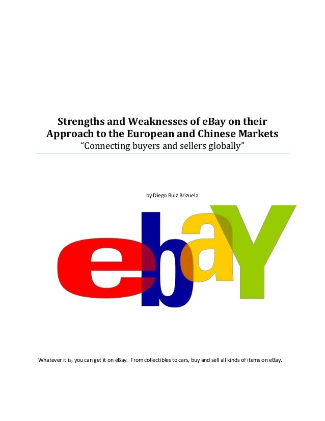 ebay strengths and weaknesses