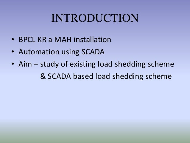 Introduction to load shedding