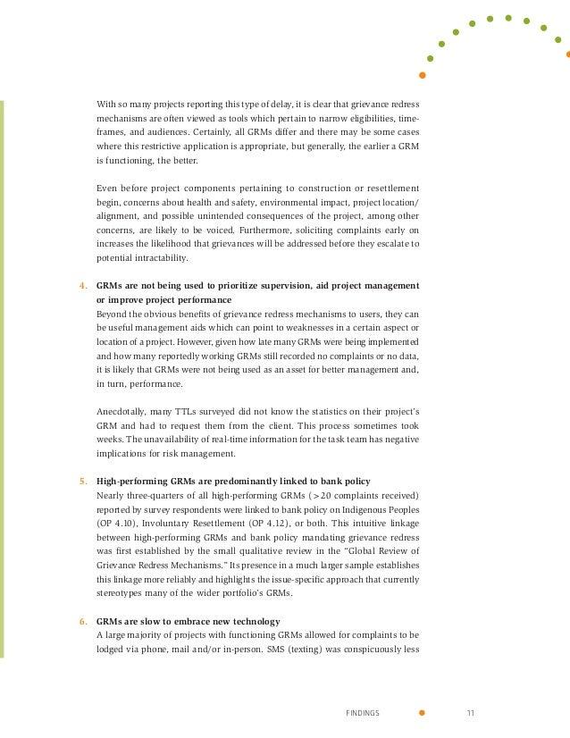 grievance handling mechanism project report