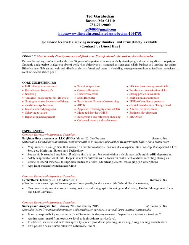 Ted Garabedian Resume 12016