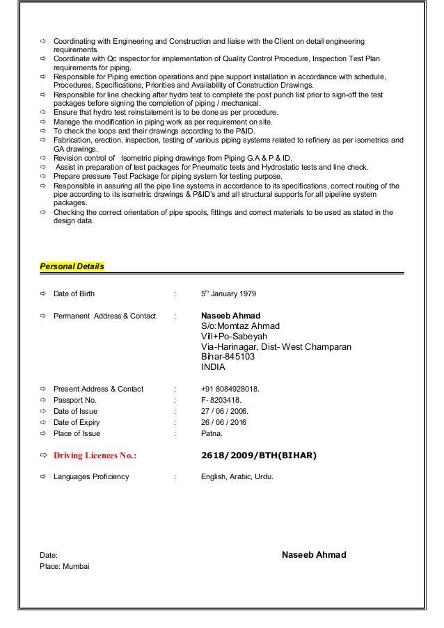 Qc welding inspector for Punch list procedure
