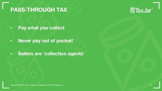 WHEN SHOULD I COLLECT SALES TAX? Copyright © 2015 TaxJar. TaxJar is a trademark of TPS Unlimited, Inc. 29